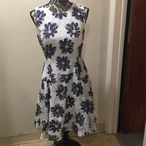 Tommy Hilfiger Blue Floral Tailored Dress